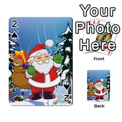 Funny Santa Claus In The Forrest Playing Cards 54 Designs