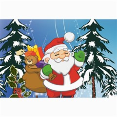 Funny Santa Claus In The Forrest Collage 12  X 18
