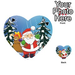 Funny Santa Claus In The Forrest Playing Cards 54 (Heart)