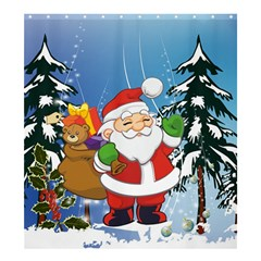 Funny Santa Claus In The Forrest Shower Curtain 66  x 72  (Large)