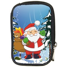 Funny Santa Claus In The Forrest Compact Camera Cases