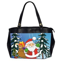 Funny Santa Claus In The Forrest Office Handbags (2 Sides)