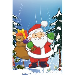 Funny Santa Claus In The Forrest 5 5  X 8 5  Notebooks