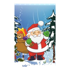 Funny Santa Claus In The Forrest Shower Curtain 48  X 72  (small)