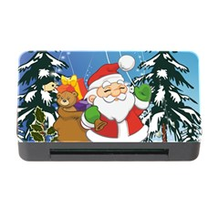 Funny Santa Claus In The Forrest Memory Card Reader with CF