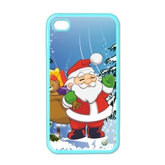 Funny Santa Claus In The Forrest Apple iPhone 4 Case (Color)