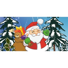 Funny Santa Claus In The Forrest YOU ARE INVITED 3D Greeting Card (8x4)