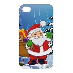 Funny Santa Claus In The Forrest Apple iPhone 4/4S Hardshell Case