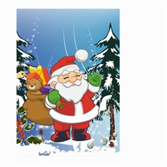 Funny Santa Claus In The Forrest Large Garden Flag (two Sides)