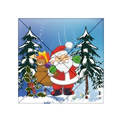 Funny Santa Claus In The Forrest Acrylic Tangram Puzzle (4  x 4 )