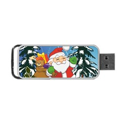 Funny Santa Claus In The Forrest Portable USB Flash (One Side)