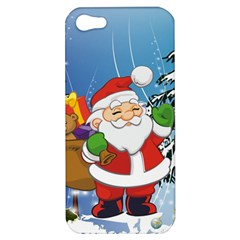 Funny Santa Claus In The Forrest Apple iPhone 5 Hardshell Case