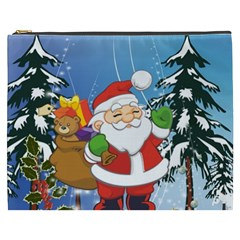 Funny Santa Claus In The Forrest Cosmetic Bag (XXXL)