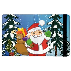 Funny Santa Claus In The Forrest Apple iPad 2 Flip Case