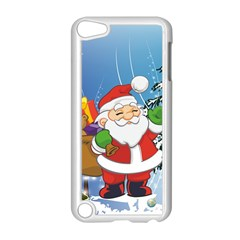 Funny Santa Claus In The Forrest Apple iPod Touch 5 Case (White)