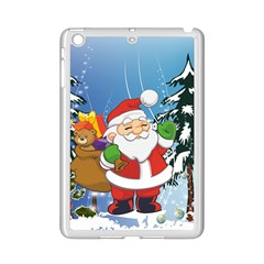 Funny Santa Claus In The Forrest iPad Mini 2 Enamel Coated Cases