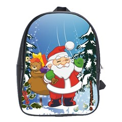 Funny Santa Claus In The Forrest School Bags (XL)