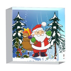 Funny Santa Claus In The Forrest 5  x 5  Acrylic Photo Blocks