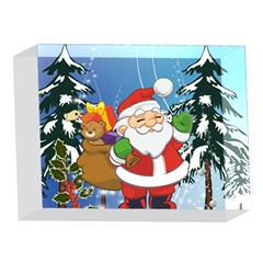 Funny Santa Claus In The Forrest 5 x 7  Acrylic Photo Blocks