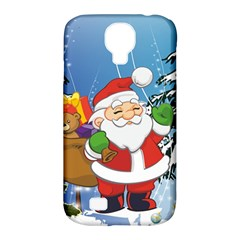 Funny Santa Claus In The Forrest Samsung Galaxy S4 Classic Hardshell Case (PC+Silicone)
