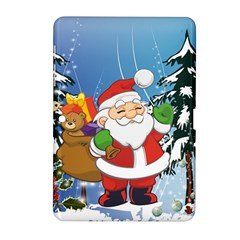 Funny Santa Claus In The Forrest Samsung Galaxy Tab 2 (10 1 ) P5100 Hardshell Case