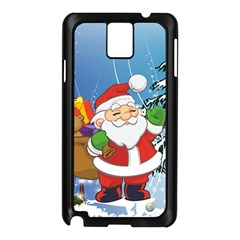 Funny Santa Claus In The Forrest Samsung Galaxy Note 3 N9005 Case (Black)