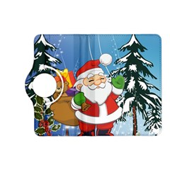 Funny Santa Claus In The Forrest Kindle Fire HD (2013) Flip 360 Case