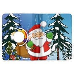 Funny Santa Claus In The Forrest Kindle Fire Hdx Flip 360 Case