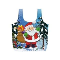 Funny Santa Claus In The Forrest Full Print Recycle Bags (S)