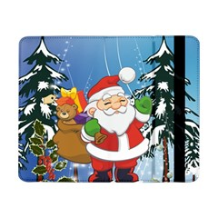 Funny Santa Claus In The Forrest Samsung Galaxy Tab Pro 8 4  Flip Case