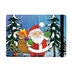 Funny Santa Claus In The Forrest iPad Mini 2 Flip Cases