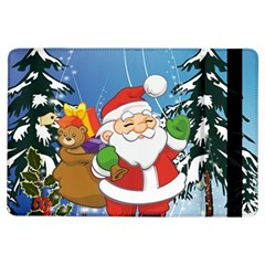 Funny Santa Claus In The Forrest iPad Air Flip