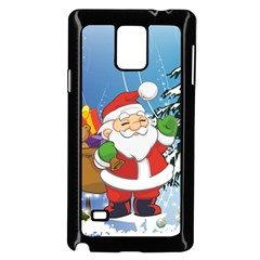 Funny Santa Claus In The Forrest Samsung Galaxy Note 4 Case (Black)