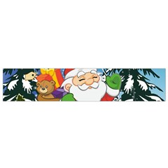 Funny Santa Claus In The Forrest Flano Scarf (Small)