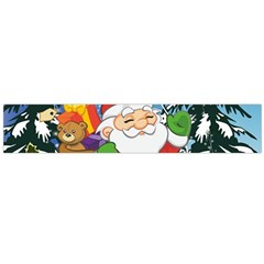 Funny Santa Claus In The Forrest Flano Scarf (Large)