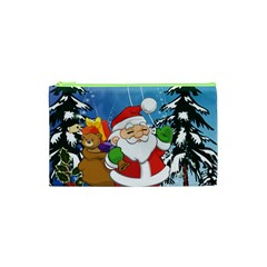 Funny Santa Claus In The Forrest Cosmetic Bag (XS)