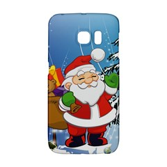 Funny Santa Claus In The Forrest Galaxy S6 Edge