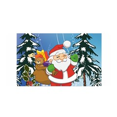 Funny Santa Claus In The Forrest Satin Wrap