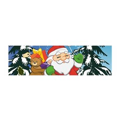 Funny Santa Claus In The Forrest Satin Scarf (oblong)