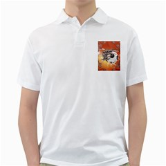 Soccer With Skull And Fire And Water Splash Golf Shirts