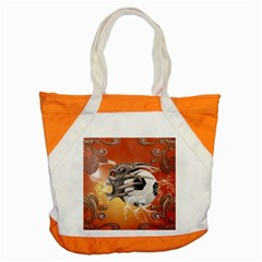 Soccer With Skull And Fire And Water Splash Accent Tote Bag