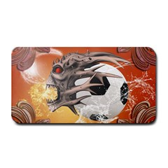 Soccer With Skull And Fire And Water Splash Medium Bar Mats
