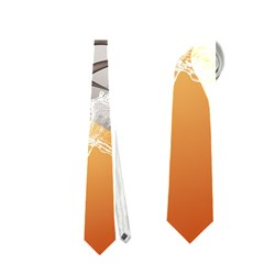 Soccer With Skull And Fire And Water Splash Neckties (One Side)