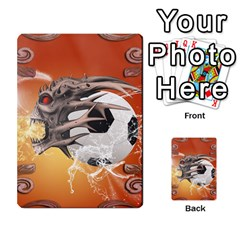 Soccer With Skull And Fire And Water Splash Multi Purpose Cards (rectangle)