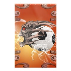 Soccer With Skull And Fire And Water Splash Shower Curtain 48  x 72  (Small)