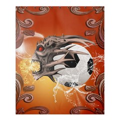 Soccer With Skull And Fire And Water Splash Shower Curtain 60  X 72  (medium)