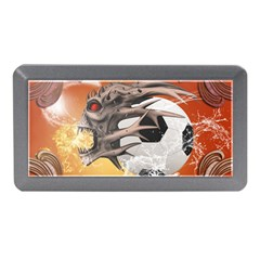 Soccer With Skull And Fire And Water Splash Memory Card Reader (Mini)