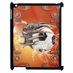 Soccer With Skull And Fire And Water Splash Apple iPad 2 Case (Black)