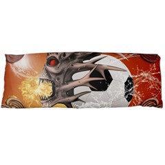 Soccer With Skull And Fire And Water Splash Body Pillow Cases Dakimakura (Two Sides)