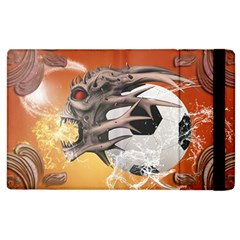 Soccer With Skull And Fire And Water Splash Apple iPad 3/4 Flip Case